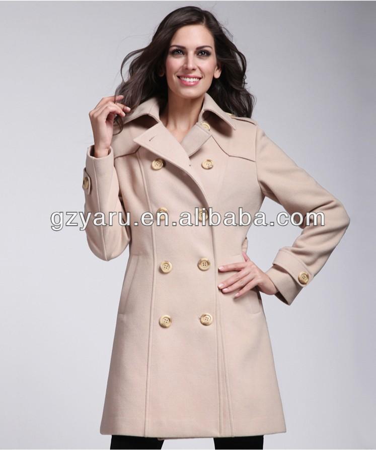 Women Winter Formal Coats,Double Breasted Wool Coats,Ladies Wool ...