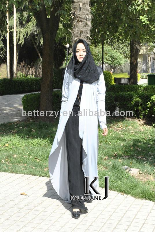 Kj-p009 2015 Latest Design Muslim Women Long Top Arabic Top ...