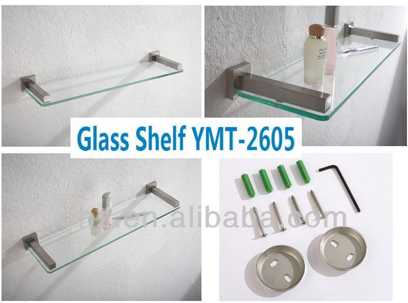 Vendita calda accessori da bagno di lusso e individualit montaggio a parete di vetro mensola - Montaggio accessori bagno ...