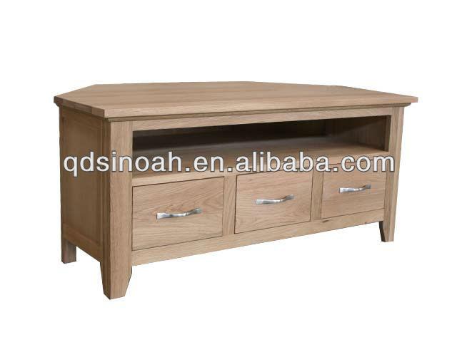 Rustieke stijl eiken houten hoek tv meubel houten hoek tv meubel