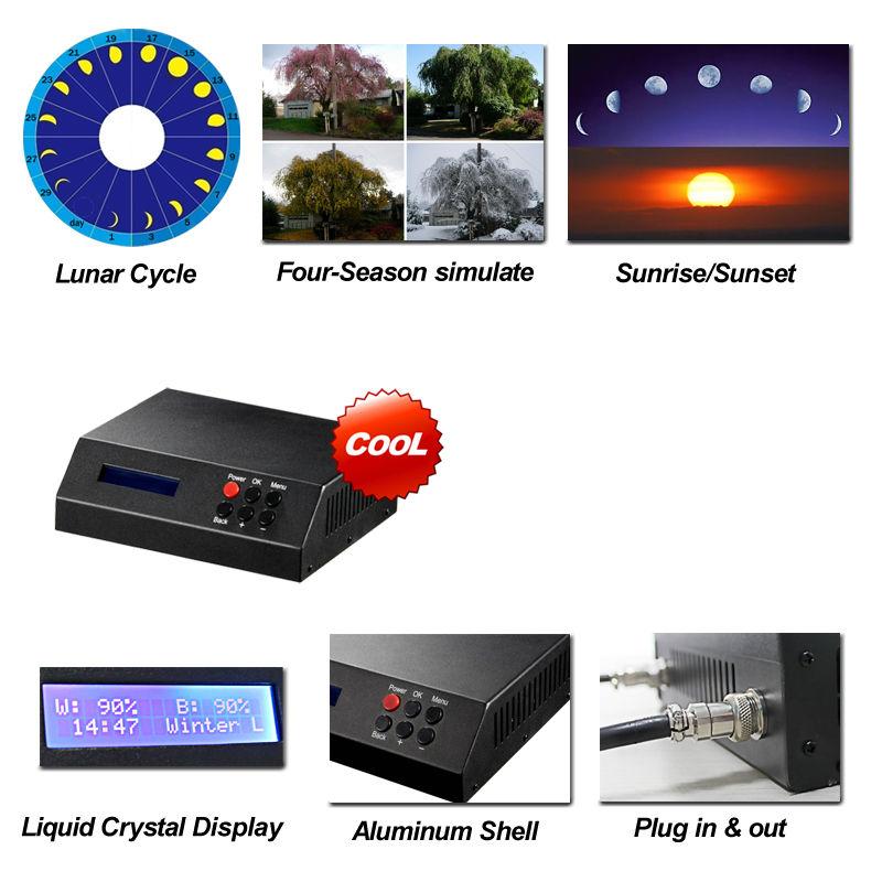 Dsuny Programmable Full Spectrum Aquarium Lighting With Digital ...