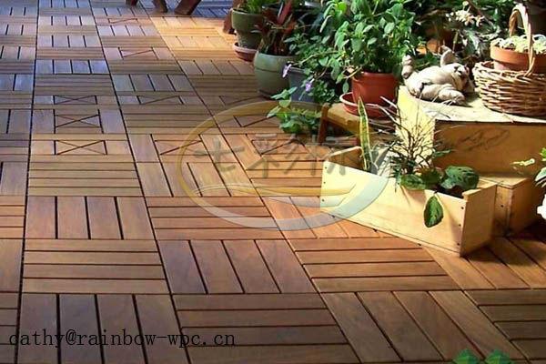 Plastic Patio Floor Wpc Diy Waterproof Outdoor Decking Floorfiberglass Deck  Flooring