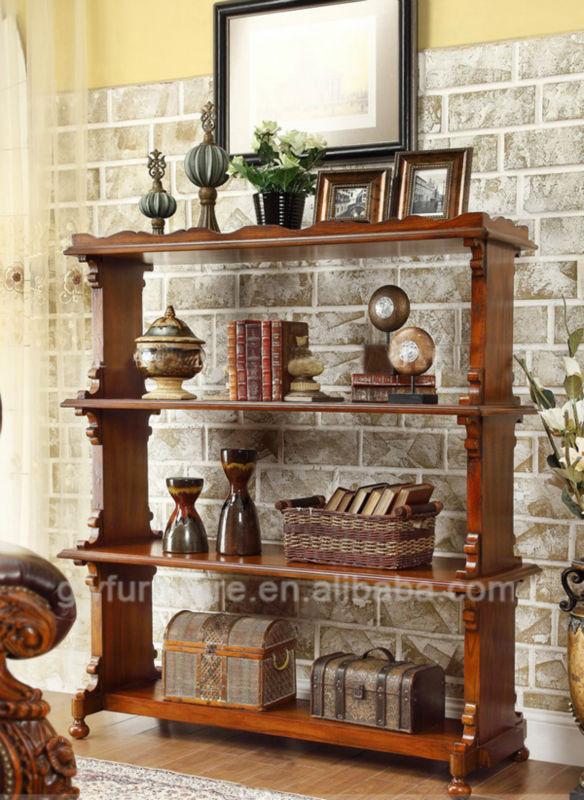 Cheap European Antique Oak Wooden Shelf Import From China