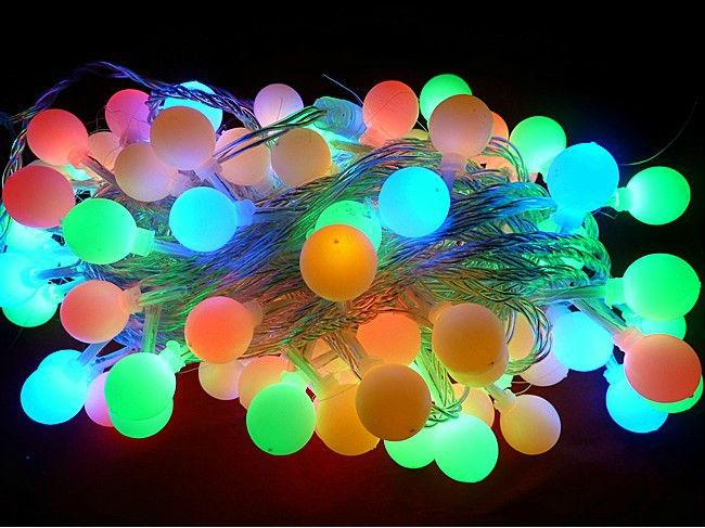 led string light with end plug buy 10m 100l led round ball christmas. Black Bedroom Furniture Sets. Home Design Ideas