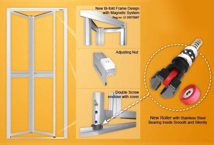 Bifold Door,Toilet Door,Aluminium Bi-fold Door,Bi-fold Door - Buy ...
