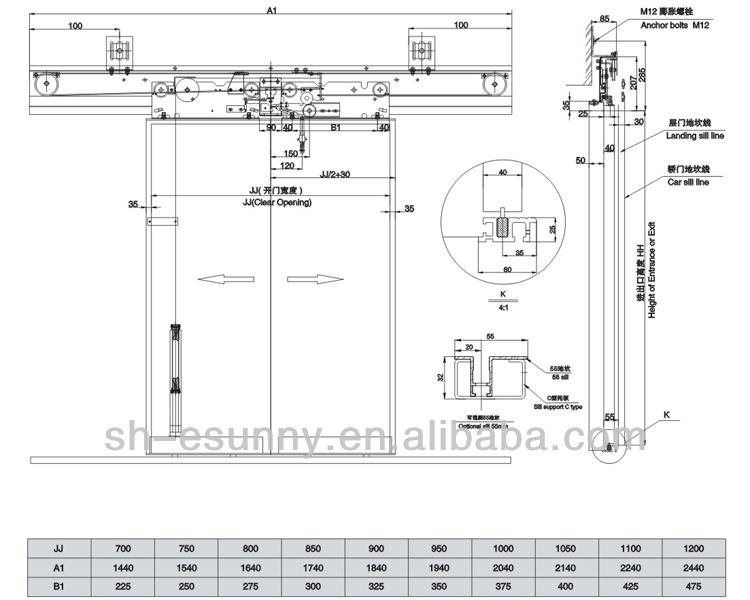 Elevator Cabin Door System Lift Car Door Operator
