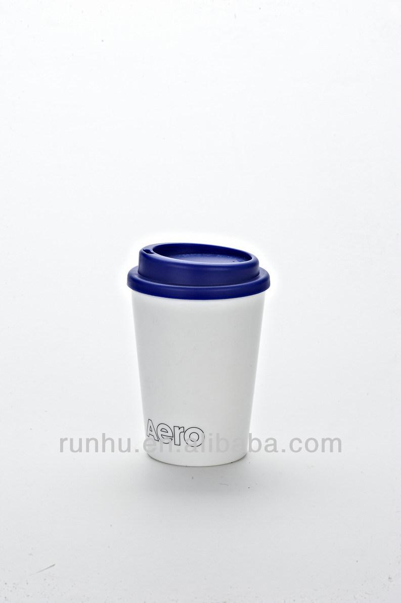 16oz Unbreakable Eco Friendly Bulk White Plastic Coffee Travel Mug With Band Rh117 16 Buy Bulk