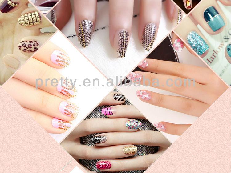 Nail art guangzhou wholesale false nails stiletto nails with nail art guangzhou wholesale false nails stiletto nails with custom design acceptable prinsesfo Gallery