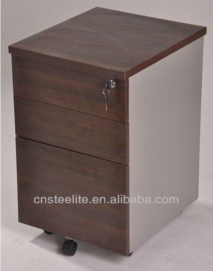 Beige Mobile 3 Drawer Pedestal Cabinet Wood/under Desk File ...