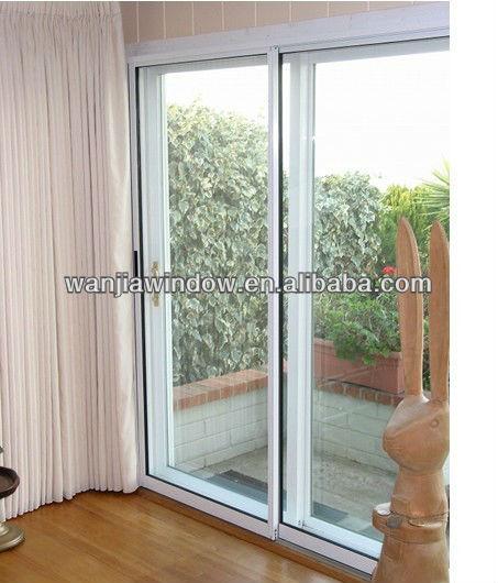 Wanjia marco de aluminio revestimiento de vidrio de la for Puerta balcon de aluminio