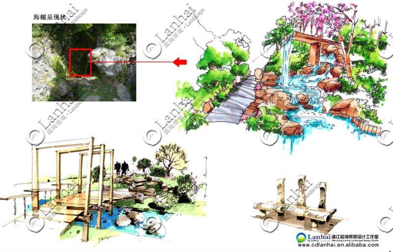 Park Landscape Design Sketch