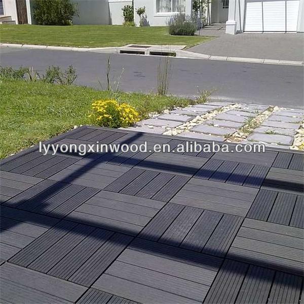 Eco Friendly European Standard Wood Plastic Composite Diy Patio Tile