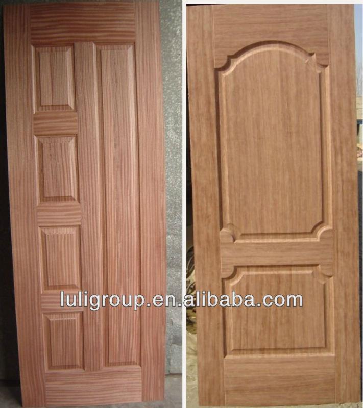 Moulded Door Skin Mahogany Wood Veneer Hdf Door Skin 813