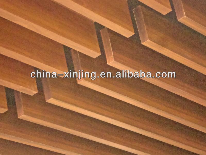 nueva pantalla de diseo falso techo con acabado imitacin madera