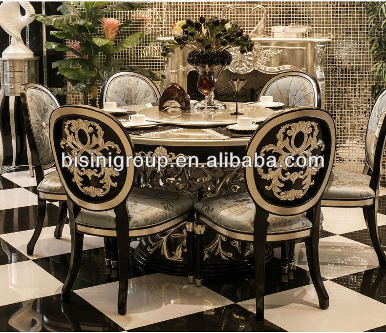 Luxury Lazy Susan Dining Table Whole Set Bf11 1130b Round Product On Alibaba