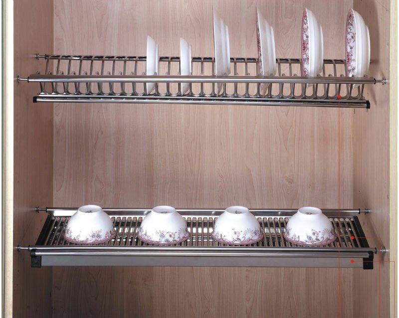 Kitchen Cabinet Stainless Draining Dish Rack,Plate & Dish Holder ...