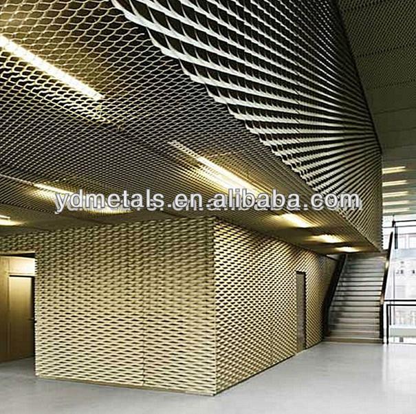 Aluminum decorative expanded metal for interior design