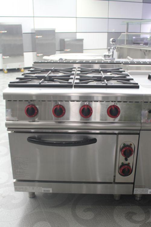 Industrial Kitchen Cooking 4 Burners Gas Range U0026 Oven