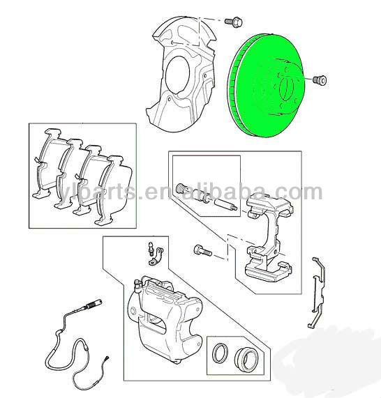Land Rover Rear Brake Rotor Disc Set Lr3 Lr4 Range Sport: New Land Rover Rear Brake Rotor Disc Lr3 V8 Lr4 Rr Sport