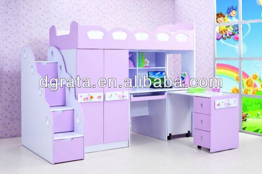 Set Da Scrivania Viola : Colore viola letto per bambini con armadio e scrivania È