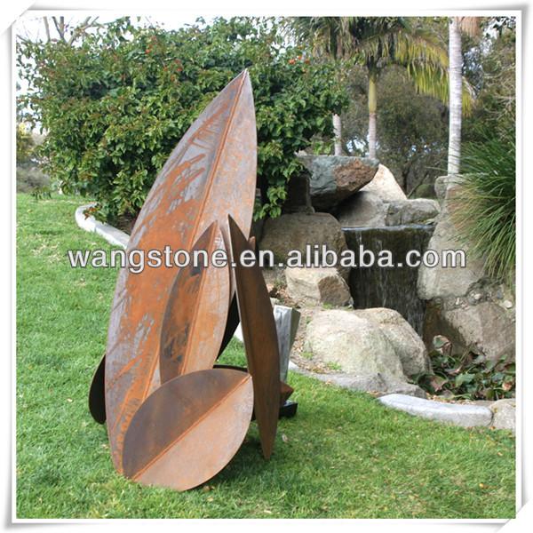 moderno jardn de esculturas de arte de acero corten para decoracin