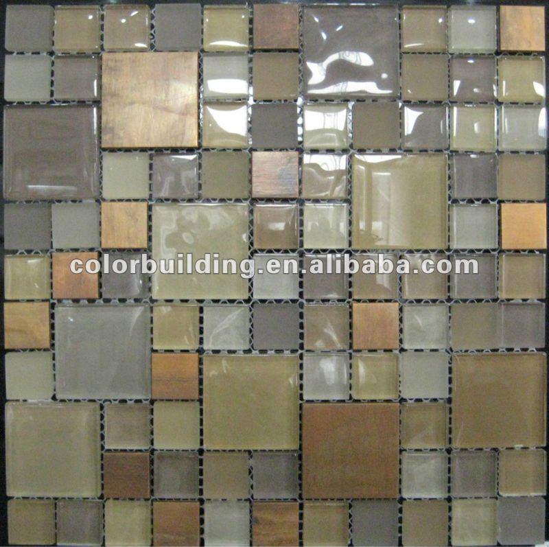 Decorative Wall Metal Glass Tile Buy Decorative Wall Metal Glass