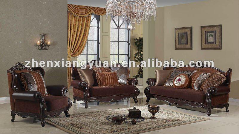 Classique En Bois De Style Arabe Salon Tissu Canapé - Buy Canapé En Tissu  De Salon De Style Arabe En Bois Classique,Canapé De Salon Royal ...