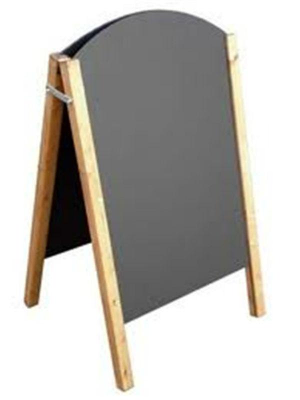 A Frame Double Sided Easels Chalkboard Wooden Chalkboard
