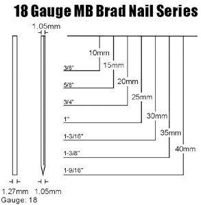 MB Brad Nail Headless