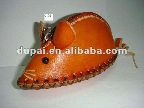 0a75df9cd Hecho a mano en forma de animales artesanías chinoiserie cuero monedero  C1-C10