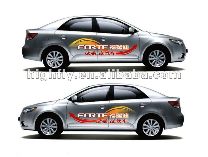 Self adhesive vinylwhite gluecar stickerdecorative car body design