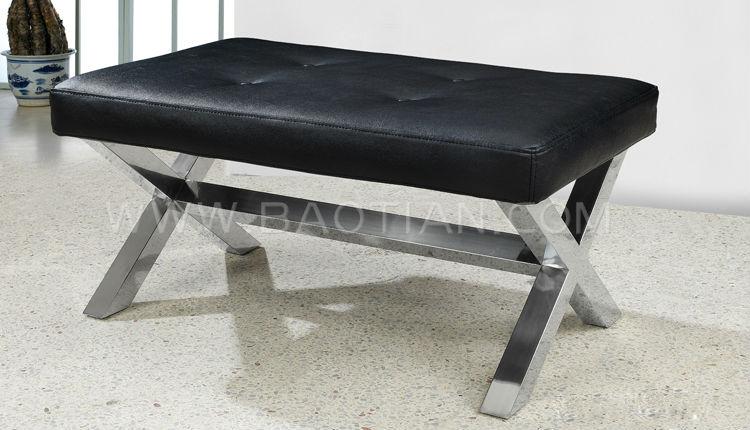 Woonkamer meubels europese stijl lang mooie leren poef 0503 buy product on - Rechthoekige lederen pouf ...