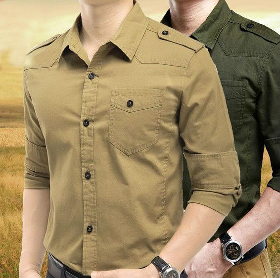 Wholesale Mens Military Uniform Shirts Army Shirts For Man