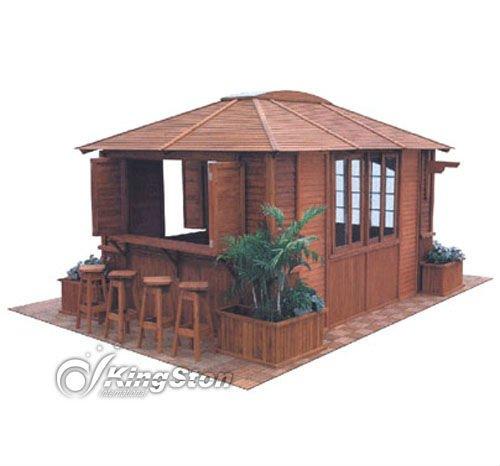 large outdoor wooden pavilion gazebo bar china buy. Black Bedroom Furniture Sets. Home Design Ideas