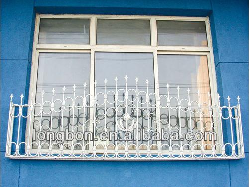 Top verkopende met de hand smeden ijzeren raam hek voor huis
