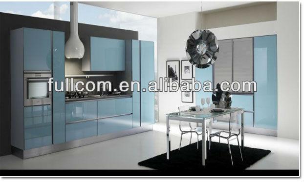 Ocean Blue High Gloss Kitchen Cabinet Buy Ocean Blue High Gloss
