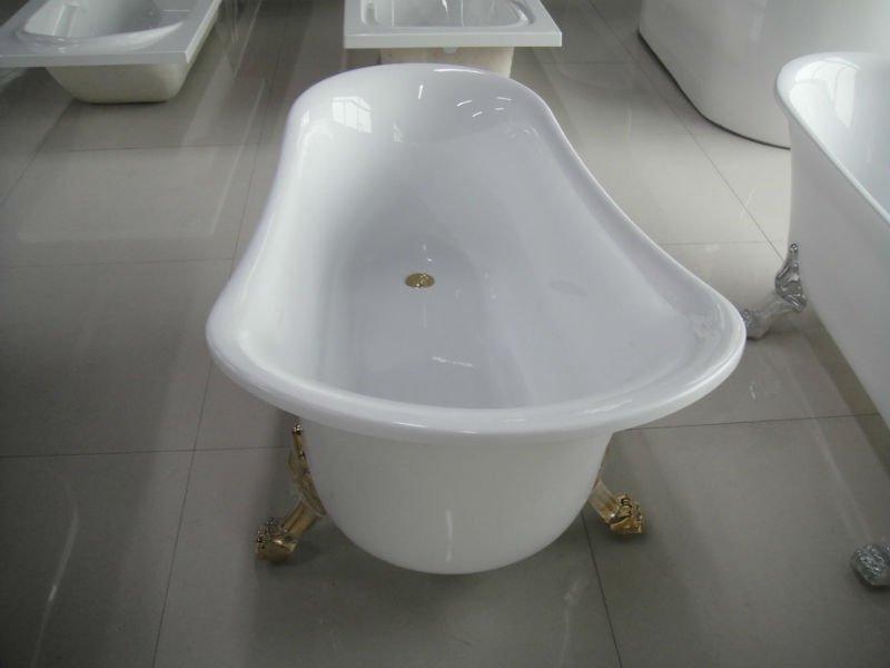 Small Size Bathtub Clawfoot Bathtub Acrylic Claw Foot Tub