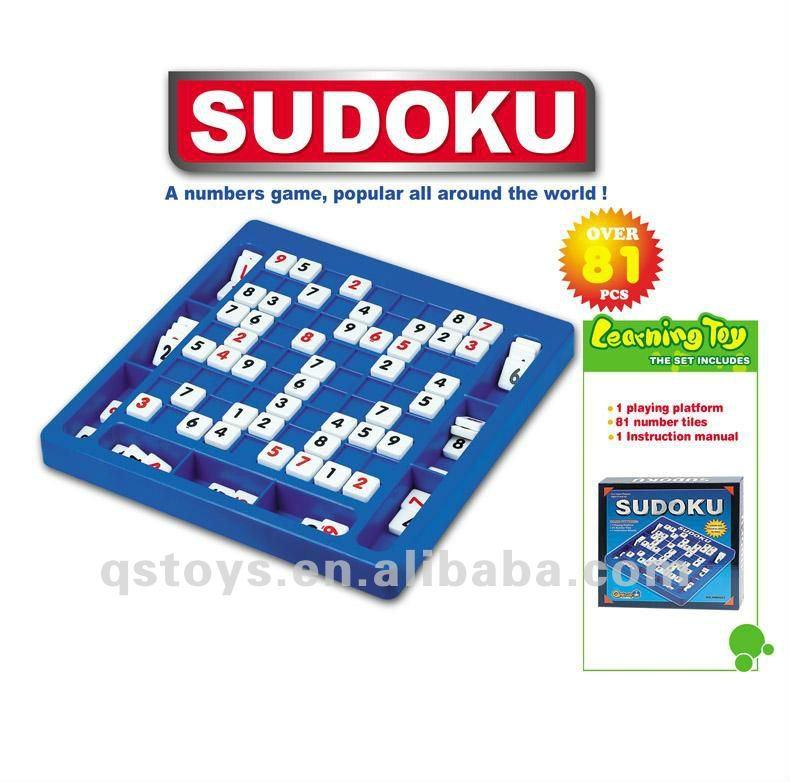 Plastico Letras Numeros Sudoku Rompecabezas Juego Juguetes Para