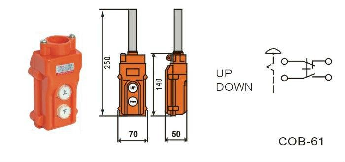 COB 61A Up down Pushbutton Crane Hoist Switch electric
