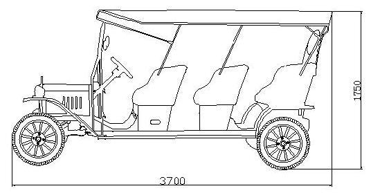 elegant design resort classic electric passenger car golf buggy