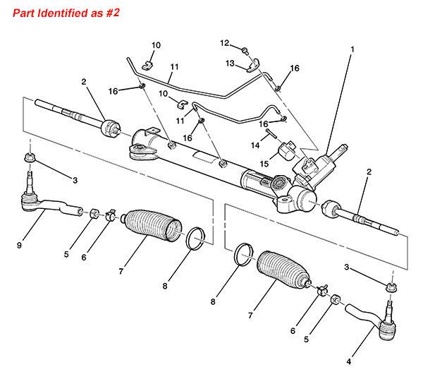 oe 19177440 auto front steering tie rod inner  tie rod  rack