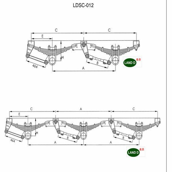 Land-d! 2 Axle Semi Trailer Parts - Buy Semi Tractor Trailer Parts ...