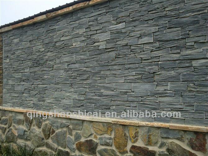 Black Slate Wall Cladding Stone Panel Stone Veneer Sheet Interior ...