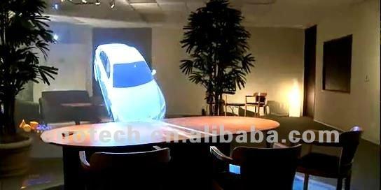 D Hologram Exhibition : Wholesale adhesive d rear projection film foil for shop
