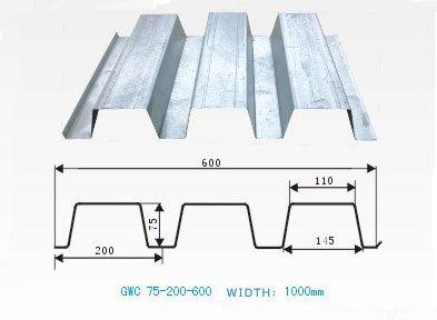 Galvanized bondek structural steel floor sheets buy for Roof decking thickness