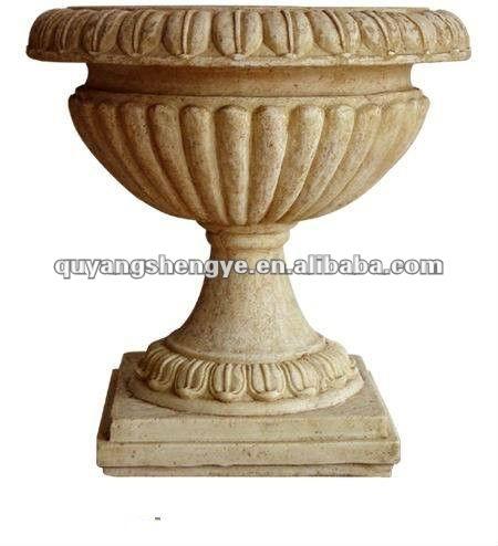 Stein marmor blumentopf f r die dekoration buy product for Billige gartendekoration