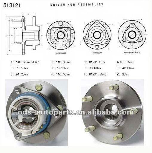 Car Wheel Parts Wheel Hub Assembly 12429204 Or 513121
