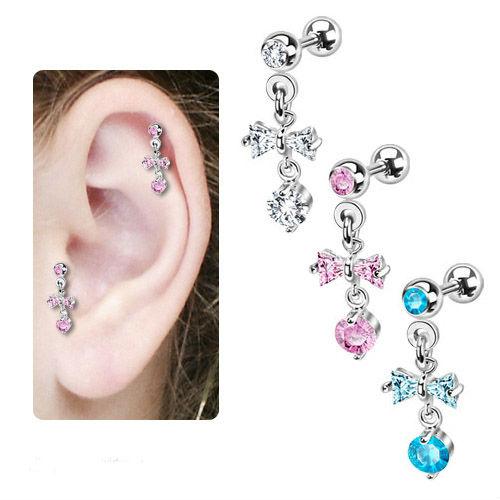 Stainless Steel Infinity Celtic Cartilage Piercing Earring Helix Dangle