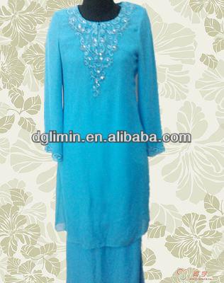 Cadet Blue Malaysia Baju Melayu Lace Covering Kebaya Floral ...