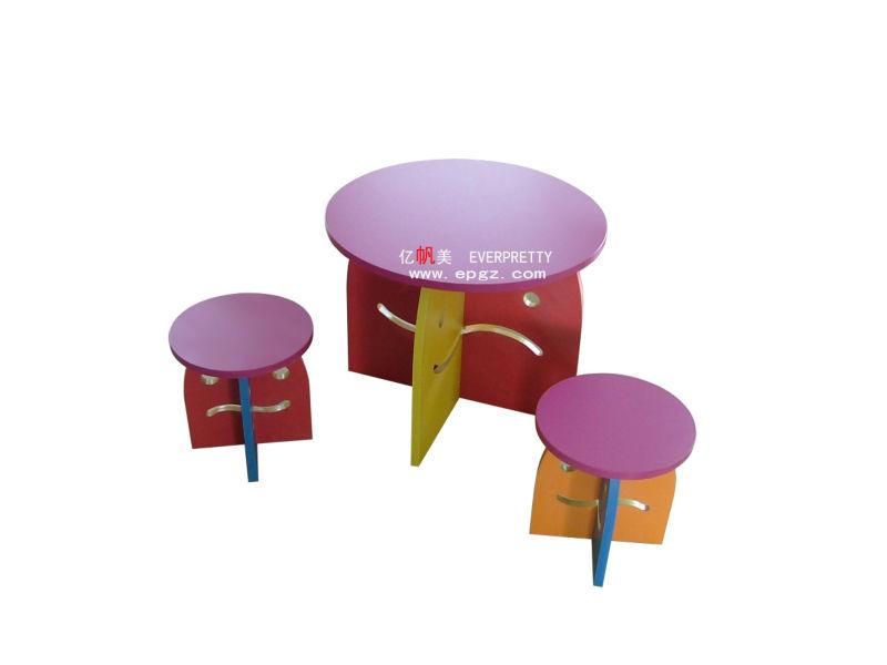 Funghi forma tavolo e sedie per bambini di legno rotondo tavolo